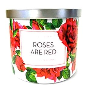 Huntington Home ROSES ARE RED 3 wick candle